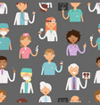 different doctors profession charactsers seamless vector image vector image