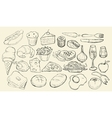 Drawn Food Collection vector image vector image