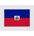 Flag of Haiti Aspect Ratio 2 to 3 vector image vector image
