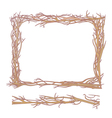 frame made from branches vector image vector image