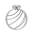 gingerbread with a christmas ball ornament shape vector image vector image
