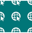 globe web icon flat design Seamless pattern vector image
