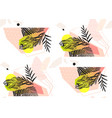 hand made abstract summer exotic jungle plant vector image vector image