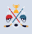 ice hockey championship or tournament flat design vector image