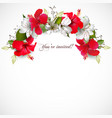 invitation with hibiscus vector image