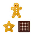 isolated object of biscuit and bake icon vector image