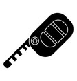 key auto icon black sign on vector image