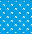 knight horse mascot pattern seamless blue vector image