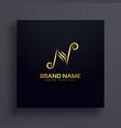 letter n logo design premium concept vector image vector image