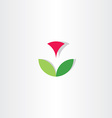 letter v flower circle icon vector image