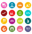 logistic icons many colors set vector image vector image