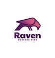 logo raven gradient line art style vector image