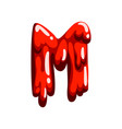 m letter of sweet fruit jelly glossy edible vector image