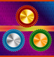 medals ribbon guilloche version a vector image vector image