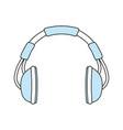 music headphones symbol vector image vector image