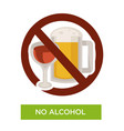 No alcohol sign restriction icon healthcare or