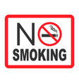 no smoking sign forbidden sign icon isolated on vector image