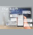 online smart chatbot concept background vector image vector image