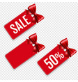 price tags set isolated transparent background vector image vector image