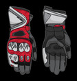 racing gloves vector image
