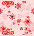 seamless repeating floral background vector image