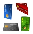 Set of colorful credit bank cards vector image