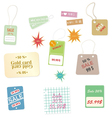 Set of colourful price tags on a white background vector image