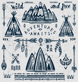 set of on the theme of travel and adventure vector image vector image