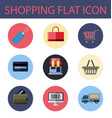 shopping flat icon vector image vector image