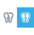 simple blue icon dental clinic isolated on vector image