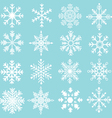 Snowflakes Silhouette Collections vector image vector image