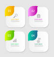 square infographic elements layout 4 options vector image vector image