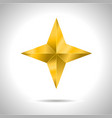 star realistic metallic golden isolated yellow 3d vector image
