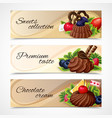 Sweets banners horizontal vector image vector image