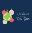 tennis holiday banner merry christmas and happy vector image vector image