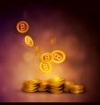the concept of e-commerce bitcoin vector image vector image