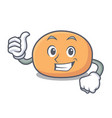thumbs up mochi character cartoon style vector image vector image
