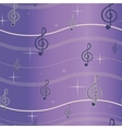 Treble clef seamless pattern vector image
