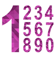 Triangle numbers vector image vector image