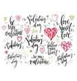 Valentine Day and Love lettering collection vector image