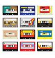 Vintage cassette tapes vol 3 vector image vector image