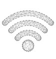 wi-fi icon for wireless internet signal radio vector image vector image