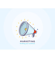 Marketing Icon with a Speakerphone vector image