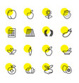 16 organic icons vector image vector image
