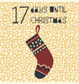 17 days until christmas vector image vector image