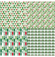 4 Christmas color different seamless patterns set vector image vector image