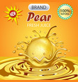 a splash of fruit pear juice vector image vector image