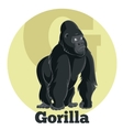 ABC Cartoon Gorilla vector image vector image