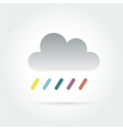 Abstract colored cloud icon isolated on white vector image vector image