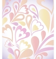 Abstract colorful background with floral vector image vector image